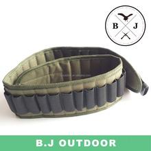 Cheaper hot sell 12G Hunting Gun Military Bullet Belt Wholesale Leather Cartridge Belt from BJ Outdoor