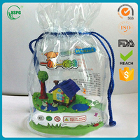 Clear pvc drawstring bag from China supplier