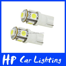 Wholesale 12V T10 5SMD 5050 Car LED Auto Light Bulb W5W White T10 Led