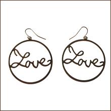 love heart Earrings hook&circle New Arrive