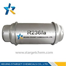 99.9%high purity Refrigerant gas R236FA in 800L /1000L refillable cylinder/ton tank with high purity and competitive price