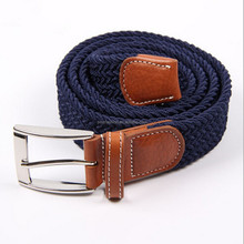 Hot sale high quality elastic braided men fashion belts
