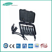 Solar PV IP65 Waterproof Electrical Plastic Junction Box 2-6 ways 5A~15A