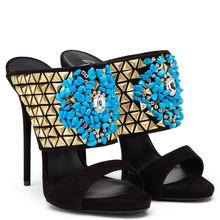 CATWALK15-S0530273 Footwear women sandals slip on crystal shoes summer sandals new model women sandals