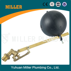 high quality ML-8305 DN20 3/4inch brass float valve with black plastic ball