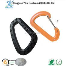 Dongguan YiKai plastic carabiner d ring snap hook,camping hook,69mm big d ring carabiner clip
