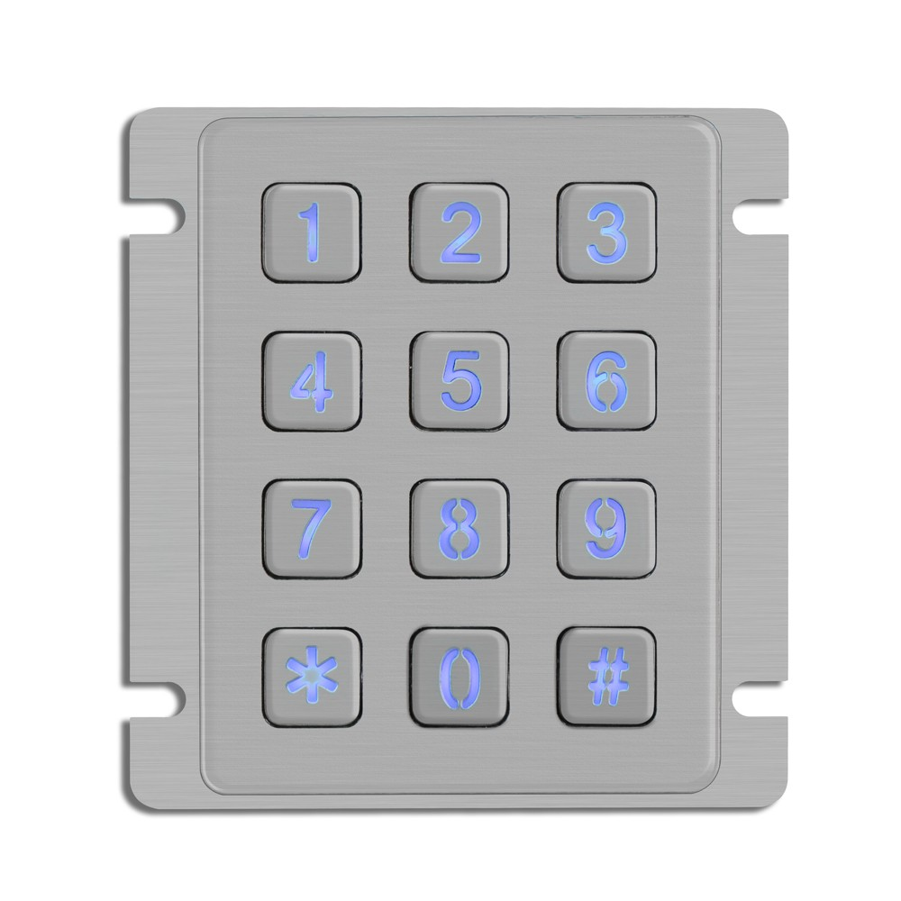 Vandal proof access control with card function ip access control systems keypad