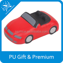 sports car stress ball with sound stress pu sports car OEM design vehicles shape pu sports car