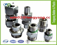 Hydraulic rubber hose fittings and adapters