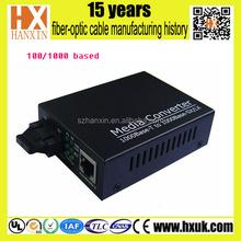 single mode 850nm / 1310nm 10 / 100/ 1000M Fiber Optic Media Converter fiber to cctv converter