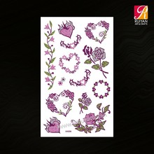 Flower Design Wholesaler Temporary Tattoo Sleeves Pink AA006