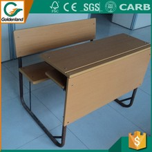 the most populat middle school double student desk and chair with front panel