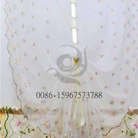 half window flower ready made emulation silk colorful indian curtains