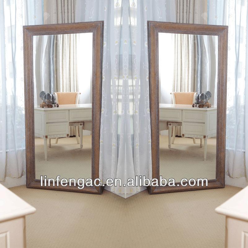 Massief hout uniek stijl rechthoekige grote grote spiegel for Grote spiegel