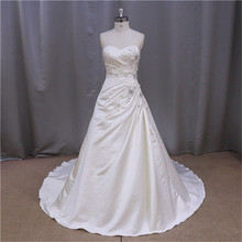 sheer closed back satin bridal wedding gowns 2012