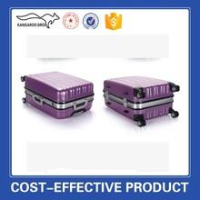 Hot sale abs pc urban trolley luggage hard shell purple luggage