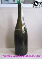 Wholesale 750ml Dark Green Glass Bottle Of Red Wine