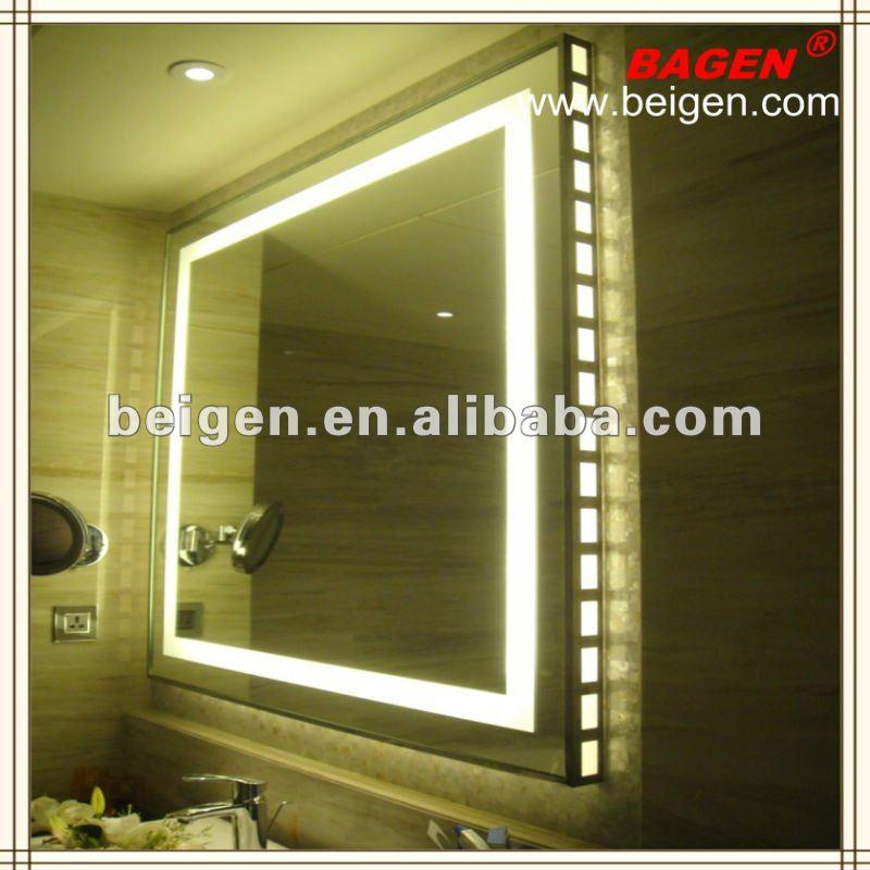 Frame mirror with led light acrylic diffuser 16 years for Molduras para espejos online