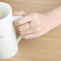 925 silver couple rings one pair to live on edge to your men and women on the ring opening Korean creative wedding engagement