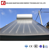 Integrative compact 100L flat plate solar water heater, rooftop solar hot water heating system