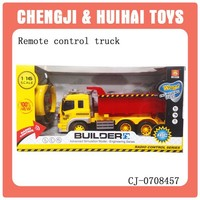 cheap rc dump truck toys with light for kids