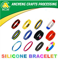 Hot selling 100% Environmental customized silicone band for promotion gifts