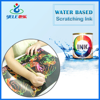 Fast drying water based ink for adhesive sticker