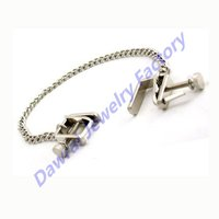 DAR New Fashional 316L Surgical Steel Nipple Chain Nipple Ring Piercing Jewelry Heart 2 Heart Nipple Clamps Press With Chain,