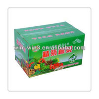 Boutique vegetable box sets 15 pounds of vegetable packaging box Crates Tray Color box