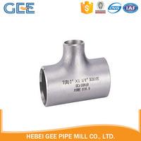 ASME B16.9 stainless steel reducing tee