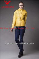 2014 newest shiny yellow elegant women wear for spring