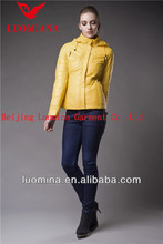 2014 newest shiny yellow elegant women wear for spring