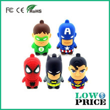 Hot Usb Pen Drive/ America Captain Superman Spiderman Batman Green Lantern Cartoon USB Flash Drive