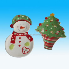 Nicely Ceramic Tableware dishes with Santa and Tree for holiday