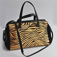 girls leather messenger bags genuine leather bag horse fur leather shoulder bag EMG2264