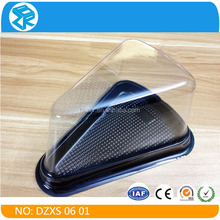 Alibaba china PET plastic cake box food container, blister food packaging box