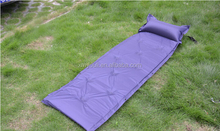 foldable inflatable bed with pillow for outdoor camping tent