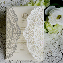 IC1503-01 wholesale laser cut invitation cards wedding decoration in guangzhou