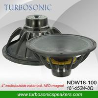 18 inch 1300W peak power neodymium LF woofer speaker
