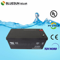 Bluesun deep cycle gel solar battery 12v 200ah of lead acid battery price