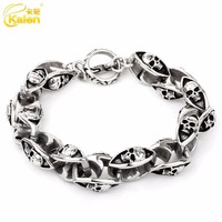 fashion jewelry stainless steel skull jewelry sublimation bracelet