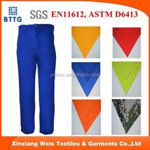 EN11612 royal blue Flame Resistant Cotton Work Pants / FR Cotton Trousers / Fire Retardant Work Pants