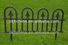 Outdoor plastic fence