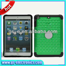 Chrome Electroplating Mirror Hard Back Case for iPad Mini Rhinestone Star Tablet Protector Cover