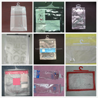 Hot sale custom clear PVC dog food packaging bags with hanger