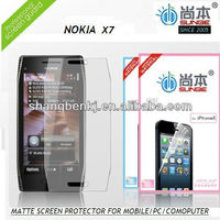 Nokia x7 high quality mobile matte screen protector for mobile