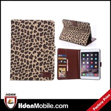 Retro case for ipad mini 3 leopard cover,stand PU cover case for ipad mini 3,for ipad mini 3 flip leather