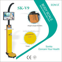 Body Fat Composition Checker SK-V9 With ticket vending printer