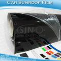 Preto brilhante carro teto solar folha/carro teto solar película de vinil