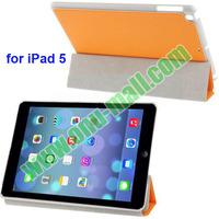 3-folding Leather Cover Case for iPad Air and iPad 5